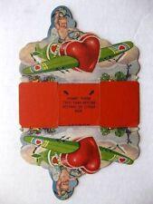 1940s Valentine Day Box W/ Angel Flying Bomber