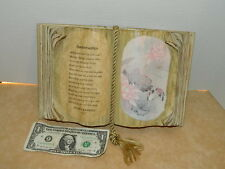 "1986 Plaque handmade Preserved book ""Anniversaries"" poem By Judith Bond"