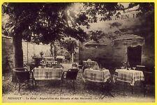 """cpa 91 - MENNECY (Essonne) CAFÉ HÔTEL de la GARE """" LE RELAI """" Fondée en 1824"""