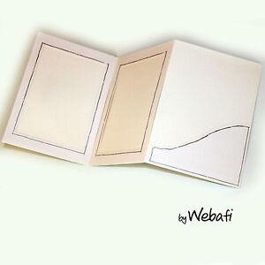 10 Stück weiße Verkaufsmappen Bildermappe Portraitmappe 13 x 18 cm Goldumrandung