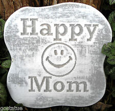 Happy mom plaque mold garden ornament stepping stone