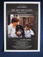 Filmplakatkarte cinema  Die Zeit mit Julien  Jane Birkin