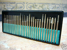 30 pieces Diamond coated rotary die grinder points burr burrs drill bit GRIT 120