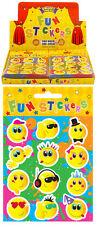 120 Packs of Smiley Face Stickers in Display Box. Bulk Buy Pocket Money Toys