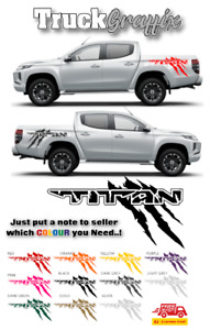 TITAN Pick up TRUCK 4x4 VEHICLE GRAPHICS DECALS STICKERS x2 - 12 COLOURS