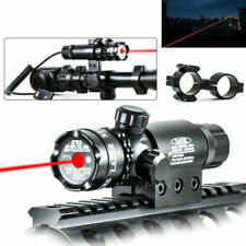 Red Dot Laser Sight Outside Adjust Rifle Gun Scope 2 Switch Rail Mounts