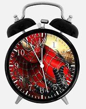 "Spiderman Alarm Desk Clock 3.75"" Home or Office Decor W154 Nice Gift"