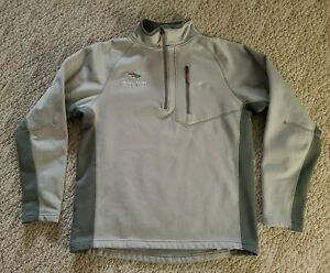 EUC Simms Men's 1/2 Zip Long Sleeve Fly Fishing Fleece Color Gray Size Large L