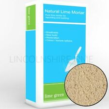 Lime Green BUFF Hydraulic Lime Mortar NHL 3.5 PRE-MIXED | Ideal for pointing
