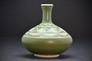 Art Pottery Studio Handcrafted Vase Carved Designs