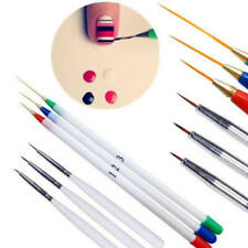 6PCS Acrylic Nail Pen Set Painted Supplies Brush Draw Flower Manicure Too PIY