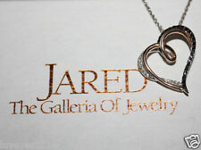 He went to Jared Black Diamond 14k Rose Gold/sterling silver Pendant necklace