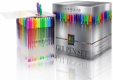 ColorGrand Gel Pens for Adult Coloring Books - 100 Glitter Pens Gel Pens