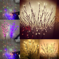 20 Heads Branch Shaped LED Fairy String Lights Willow Lamp Wedding Party Decor