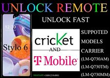 Remote Unlock Service LG Stylo 6 BOOST METRO CRICKET 2021 security supported