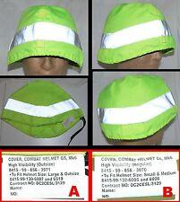 D- UK Mk6 Mk7 HIGH VISIBILITY gefechtshelm bezug helmet cover S/M oder L/XL