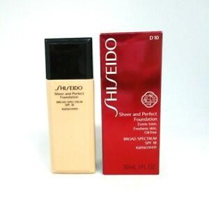 Shiseido Sheer And Perfect Foundation SPF 18 ~ D 10 ~ 30 ml / 1 Oz ~ BNIB