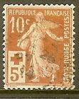 "FRANCE TIMBRE STAMP 147 "" CROIX ROUGE , SEMEUSE FOND PLEIN , 10 C "" OBLITERE TB"