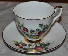 ROYAL STAFFORD TEA CUP AND SAUCER FRUITS PAINTED TEACUP