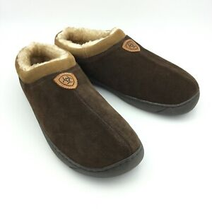 Ariat Mens Brown Suede Scuff Slippers Size XL 11.5 - 12 #2268-201