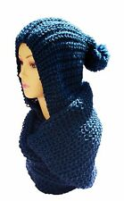 Winter Casual  Chunky Thick Knitted Fashion Winter  Headwrap Loop Scarf-NAVY