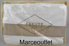 Frette 1860 Bold Cotton Sateen King Duvet Cover Milk / Beige