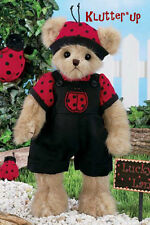"Bearington Bear LUKE B. LUCKY #143255 14"" Boy Lady Bug Ladybug Spring 2012"