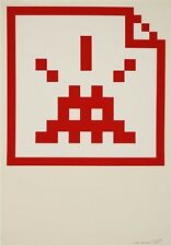 Space Invader | Space File (Red) Print - 2006 - Limited to 30