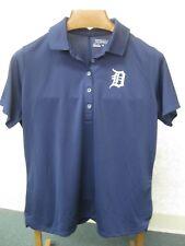 Nike Golf Tour Performance Blue Polo Shirt, Detroit Tigers Logo, Womens XL, NWOT