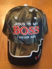 Camouflage Military Jesus is My Boss Camo Cap God headwear Camo baseball cap
