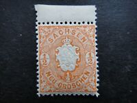 Germany 1863 Stamps MNH Arms Embossed SAXONY German STATES Deutschland