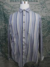 Jos. A. Bank Men's Shirt -  Blue Striped Long Sleeve Cotton Blend Size XL -F727a