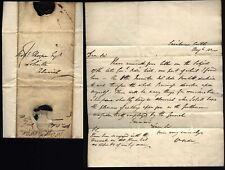 1820 William Orde of Nunnykirk, letter from Swinburne Castle to Alnwick