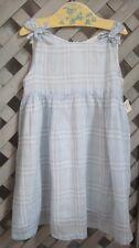 BURBERRY BABY Sun Dress GAUZE HANKY-WEIGHT LAWN Light Blue Check UK 33-48 US 3 4