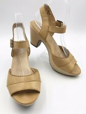 I Love Billy Nude Tan Leather Ankle Strap Sandals Shoes Size EU39 Model Willem