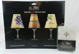 di Potter. Translucent Red Wine Glass Shades Tuscany 6pk With Tealights