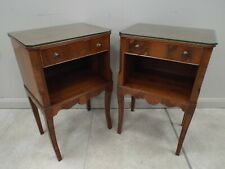 Pair of Yew Wood Bedside Tables by Bevan Funell