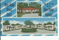 CH-354 GA, Blue Ridge, Blue Ridge Motor Court Motel US 76 Linen Postcard Georgia