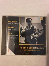 Beethoven Sonata Op 12 No 1 Brahms Op 78 Bach Partita BWV 1004 Henryk Szeryng CD