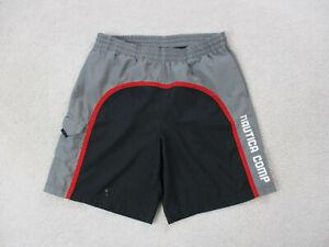 VINTAGE Nautica Swim Trunks Adult Medium Gray Black Board Shorts Bathing Suit *