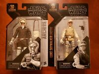"Star Wars Black Series Archive LUKE SKYWALKER & HAN SOLO (HOTH) 6"" Figure 50th"
