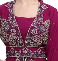 MOROCCAN WEDDING GOWN DESIGNER TAKCHITA TUNISIAN CULTURAL ROBE MAXI DRESS 6091