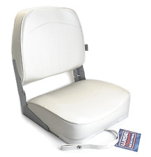 Wise Low Back Fold Down White Bass Fishing/Hunting Jon Boat Folding Seat