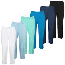 Island Green Womens 1727 Mid Length Durable Stylish Golf Trousers 56% OFF RRP