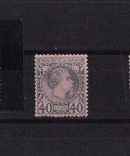 MONACO  prince Charles III   40c  bleu sur noir    num:  7  *
