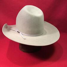 Mist Grey Resistol Rancher 7X Beaver Western Hat with Mist Grey Ribbon
