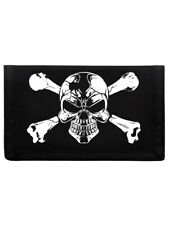 Cartera skull and crossbones Ripper Negro 13x8cm