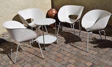4 sillas original Vitra Tom VAC Weiss ron arad con signos de desgaste