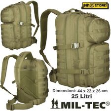 0986acad96 ZAINO TATTICO INCURSORE MIL-TEC MILTEC ASSAULT 25-30 LITRI BEIGE COYOTE  SOFTAIR