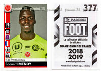 "RARE !! Sticker ROOKIE Edouard MENDY ""FRENCH FOOT 2018-2019"" Panini"